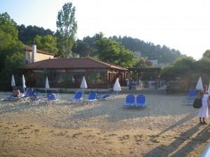 Our beach at Nostos Village