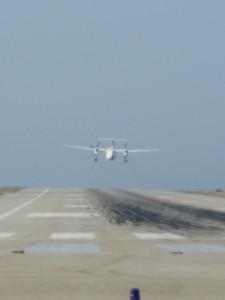Tiny runway in Skiathos